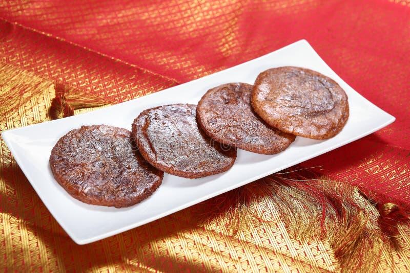 Mappillai samby adhirasam/Mappillai samby ryż ciasto fotografia stock