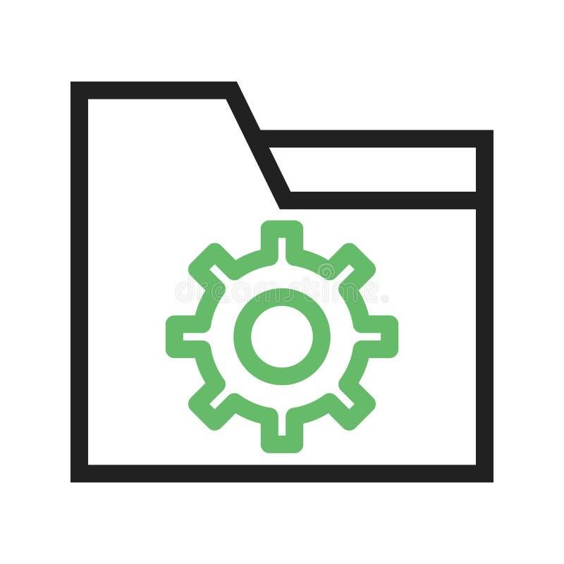 Download Mappinställningar vektor illustrationer. Illustration av lagring - 78731511