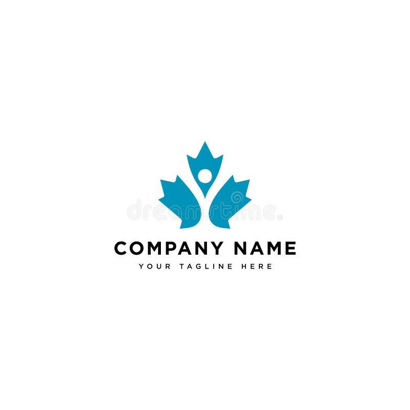 Mapple dobroczynności logo projekta inspiracja, szczęśliwi ludzie w mapple urlopu logo projektuje kolekcję royalty ilustracja