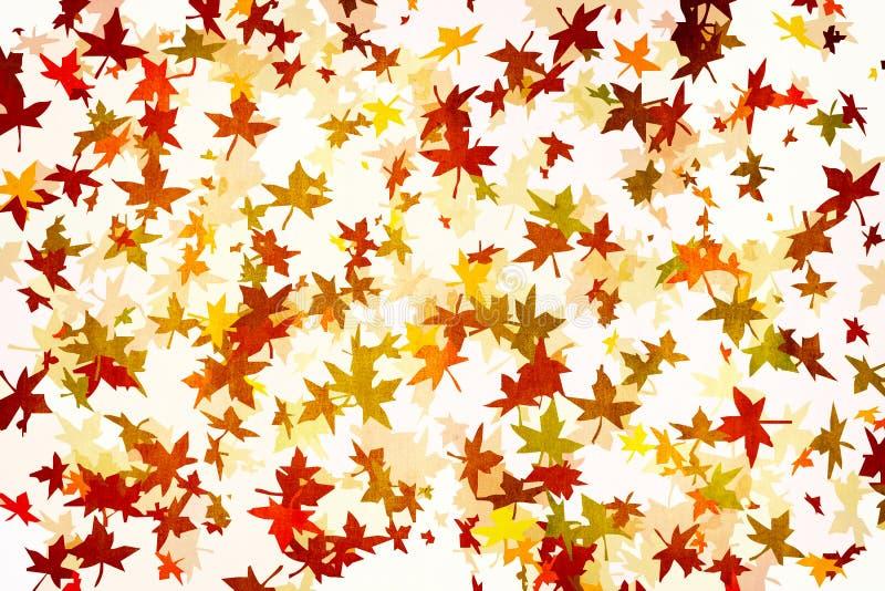 Mapple treibt Herbst grunge Hintergrund Blätter lizenzfreie abbildung