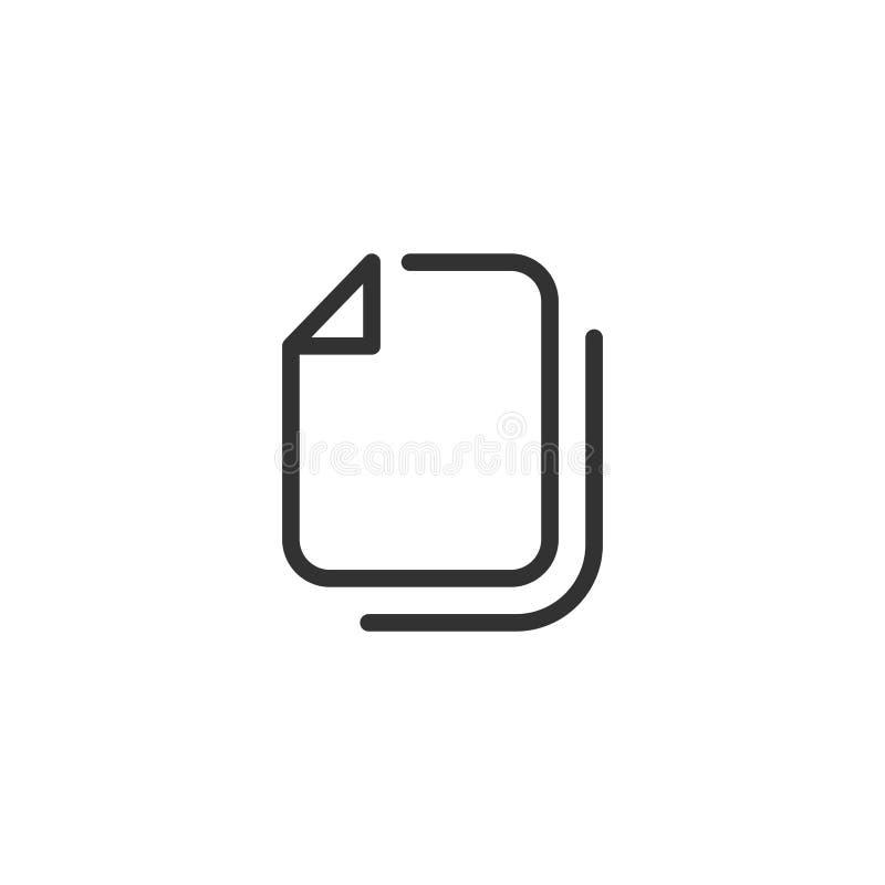 Mapplinje symbolsdesign royaltyfri illustrationer