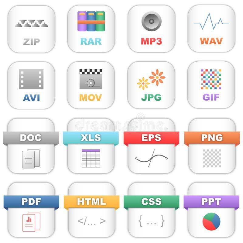 mappsymboler vektor illustrationer