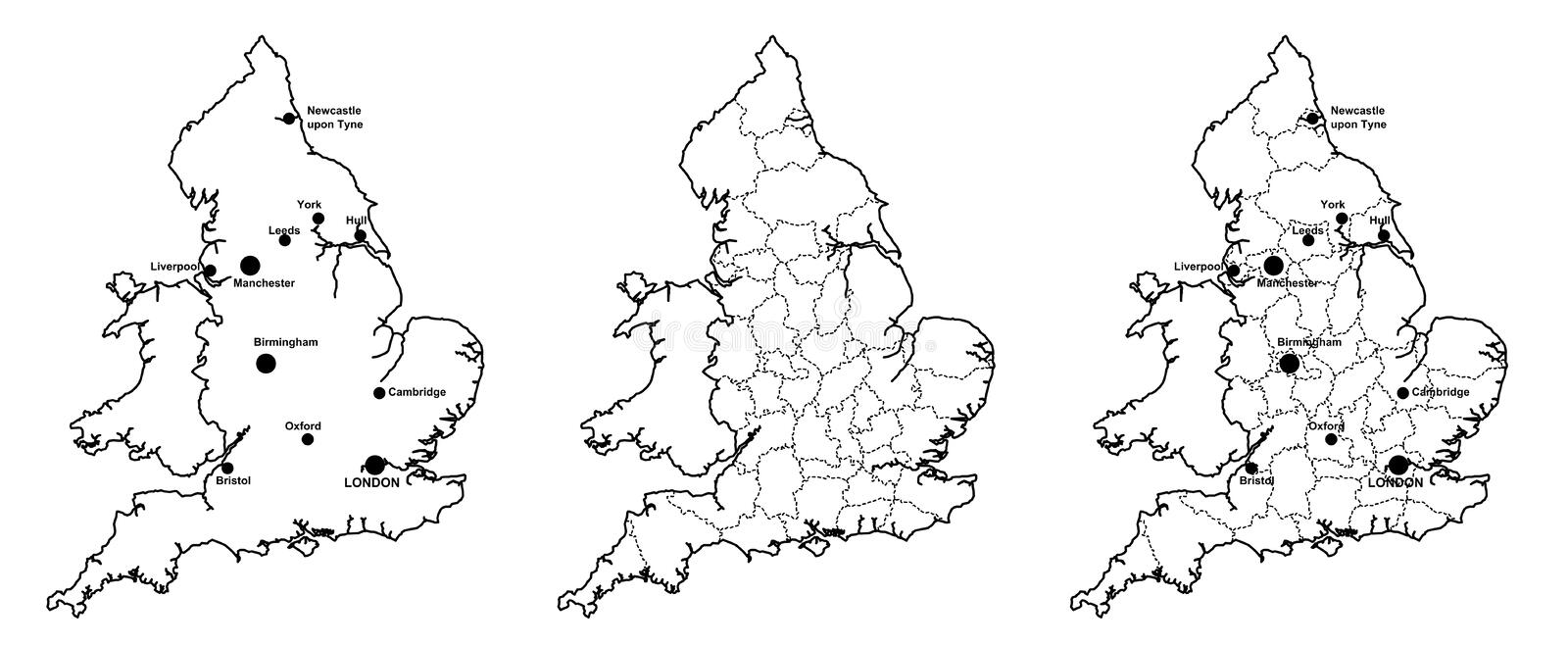 Map Of England Showing Major Cities.Map Of England With Major Cities