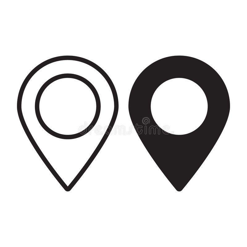 Maps pin. Location map icon. Location pin. Pin icon vector. royalty free illustration