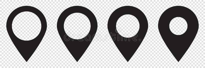 Maps pin. Location map icon. vector illustration