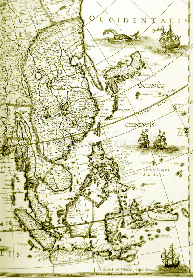 Download Maps Of Southeast Asia Countries, Old Antique Stock Photo   Image  Of Destinations,