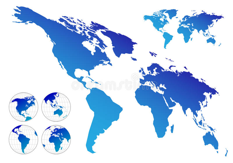 Download Maps of the world stock vector. Image of international - 10192059