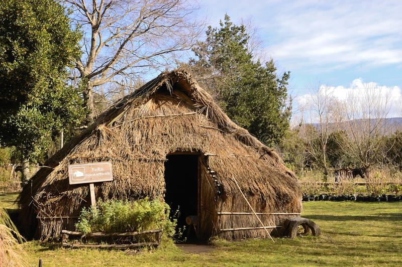 Mapuchehut royalty-vrije stock afbeeldingen