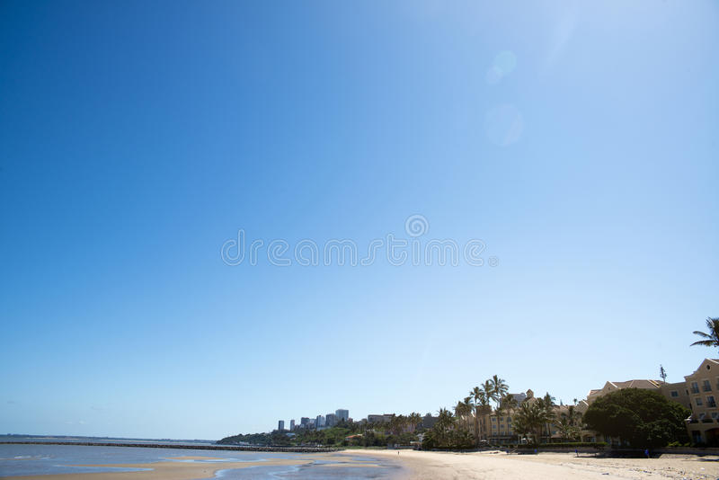 Maputo city beach area with clean water royalty free stock photo