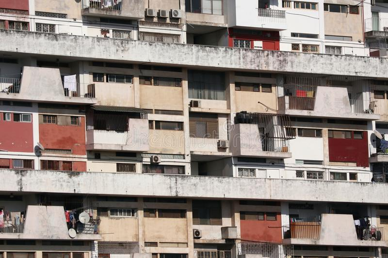 Maputo Local Housing. Mass housing block in Maputo, capital city of Mozambique. Southern Africa stock photo
