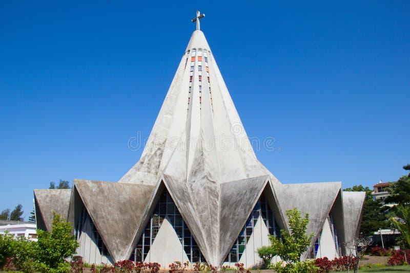 Maputo, Mozambique. Church in Polana district of Maputo, Mozambique stock images