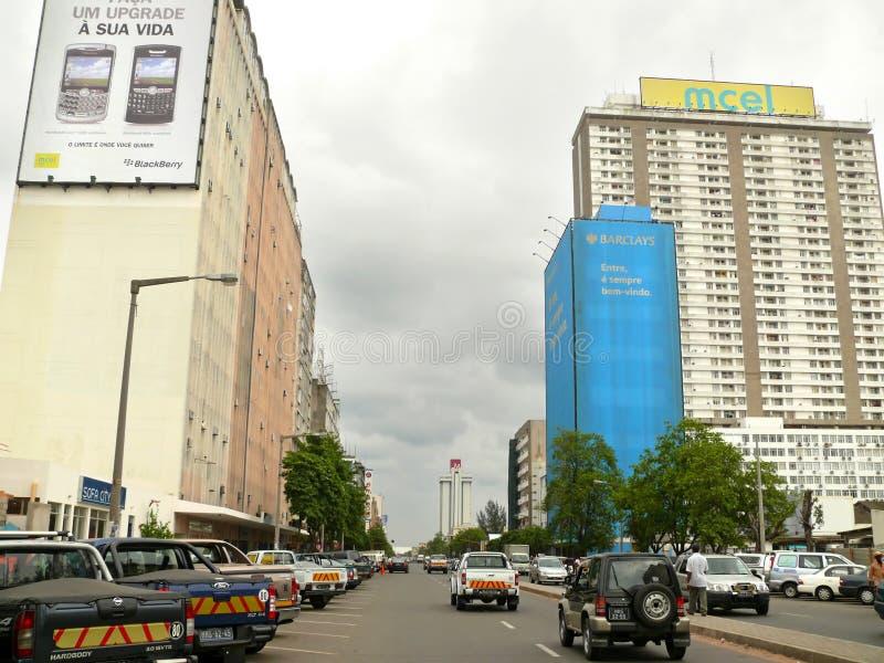 Maputo, Mozambique - 12 de diciembre de 2008: en la capital de Mozamb imagenes de archivo