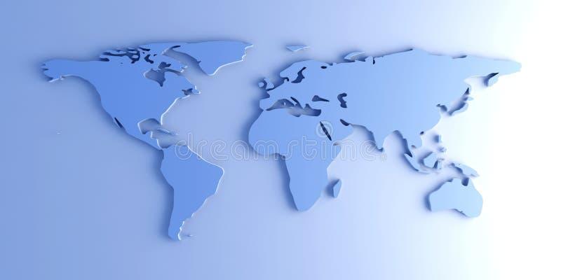 mapy świata 3 d ilustracji