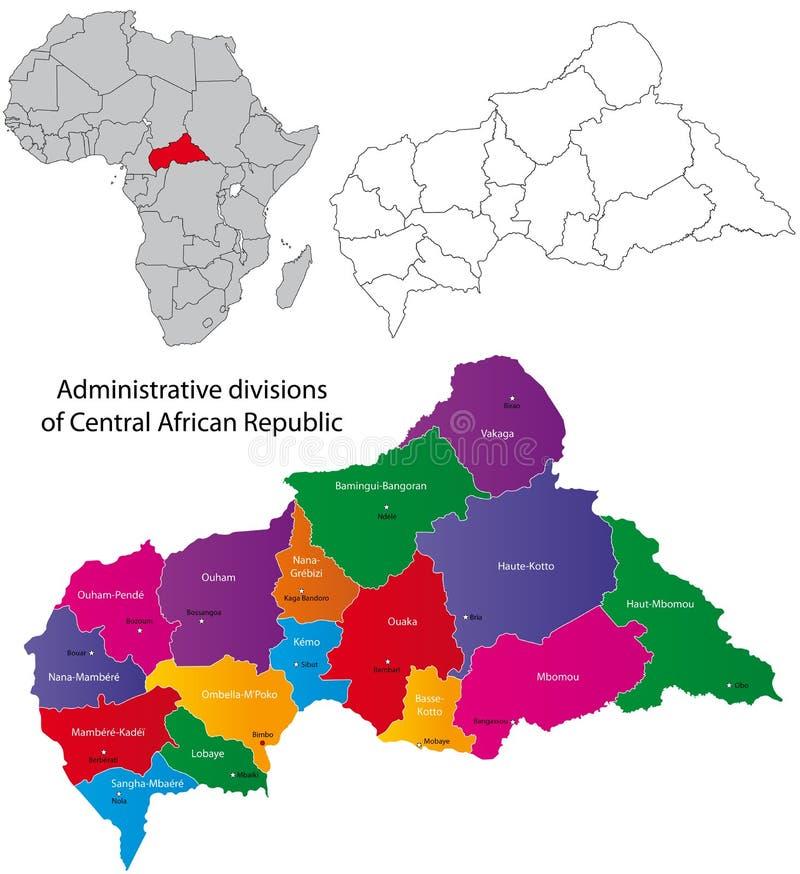mapy afrykańska środkowa republika ilustracja wektor