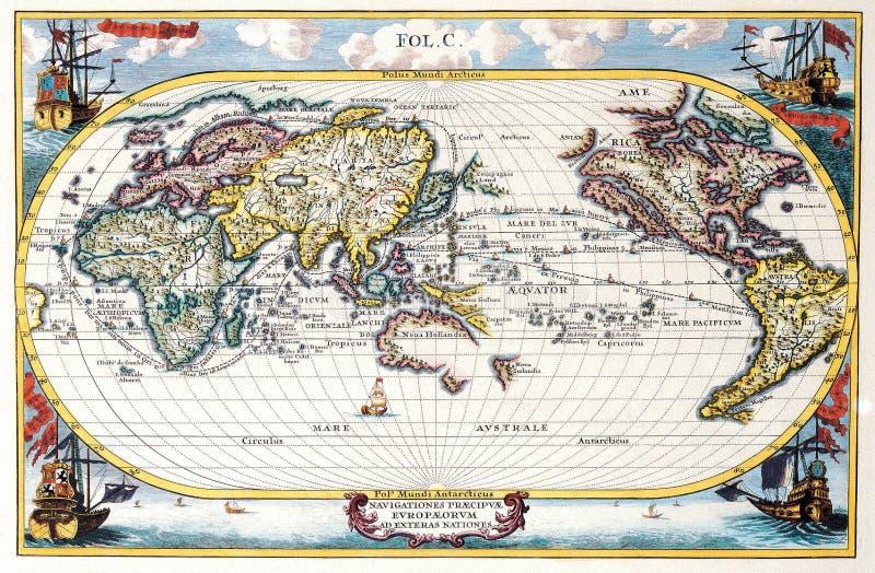 mapy antykwarska wysoka ilość ilustracja wektor