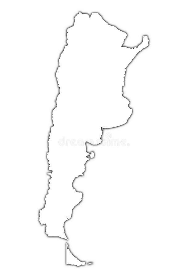mapy, argentina cień. royalty ilustracja
