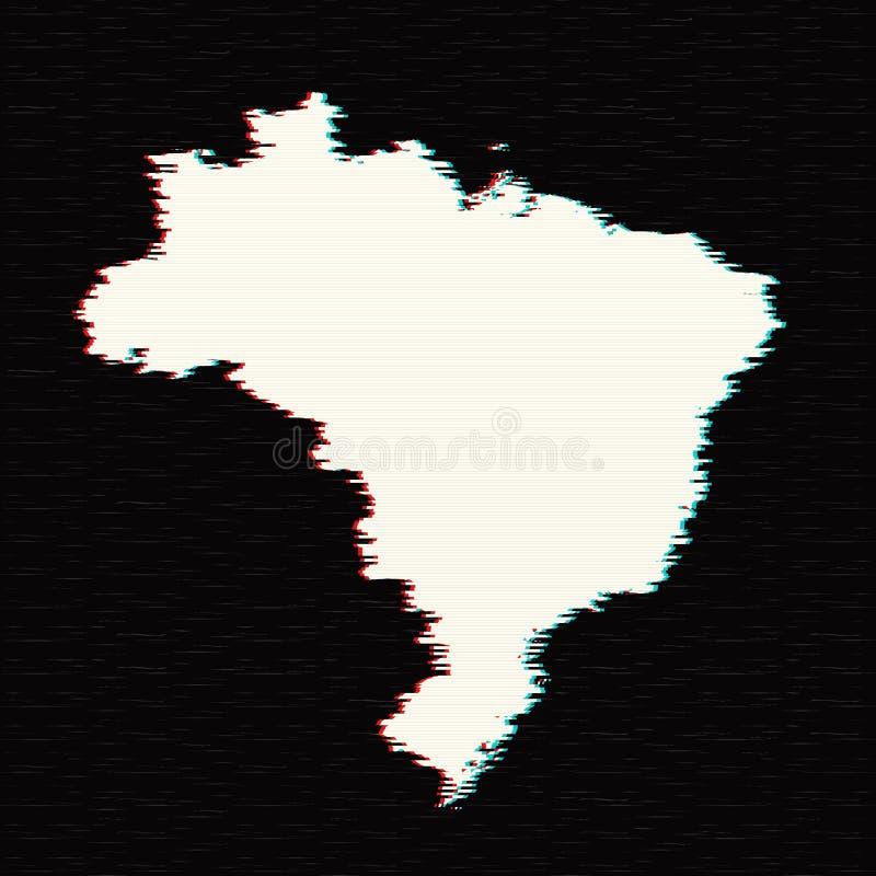 mapy brazylijskie wektora royalty ilustracja