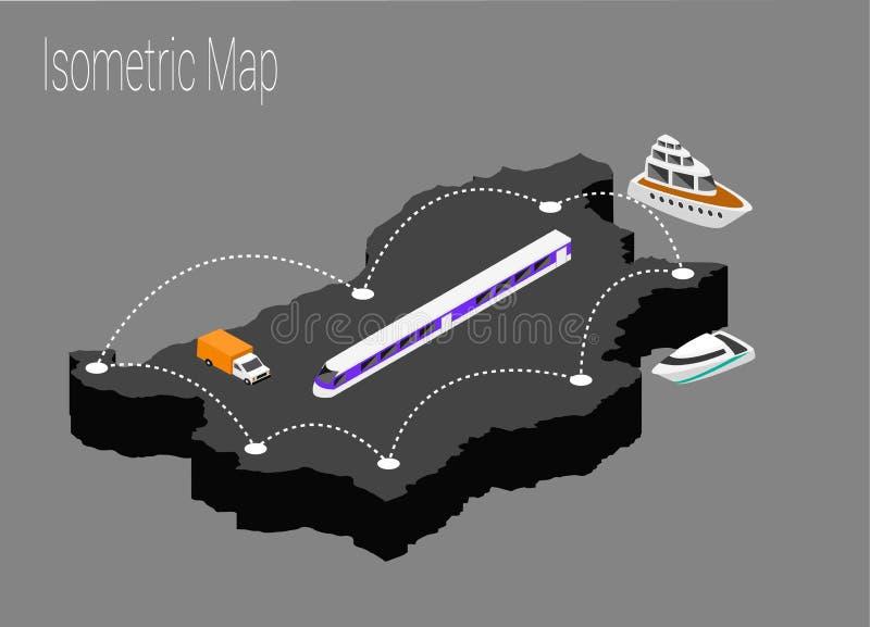 Mapy Bułgaria isometric pojęcie royalty ilustracja