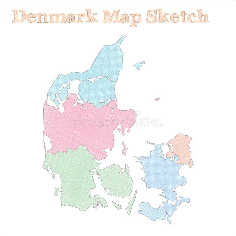 mapy denmark cień royalty ilustracja