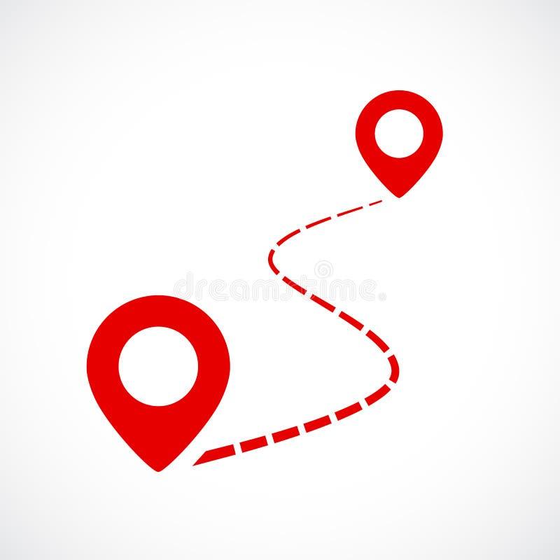Mapy dystansowa wektorowa ikona ilustracja wektor