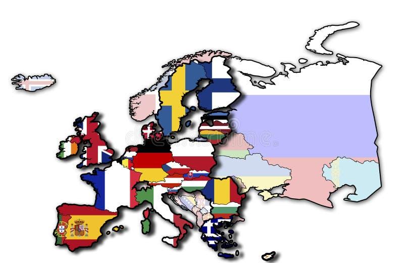 mapy europejski zjednoczenie ilustracji