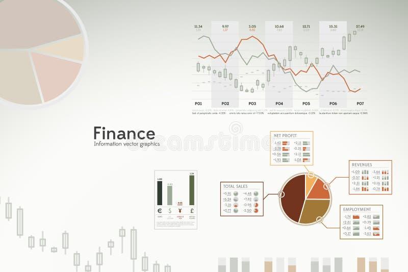 mapy finansują wykresów infographics statystyki ilustracja wektor