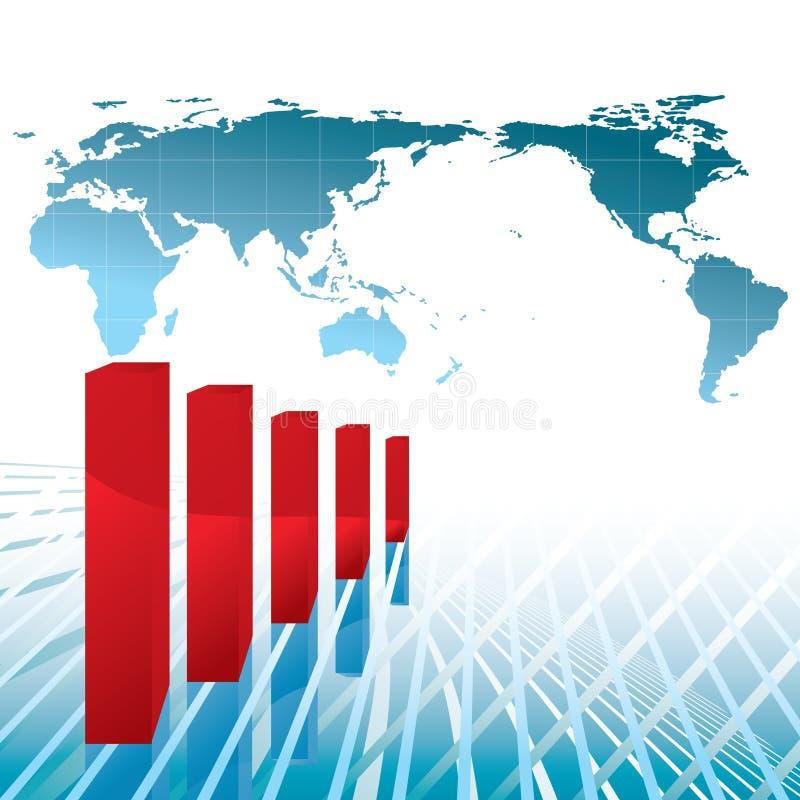 mapy gospodarki negatyw royalty ilustracja