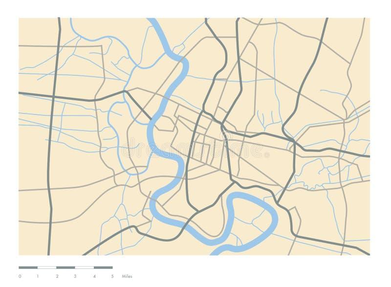 Mapy graficzna droga, rzecznej linii wektor obrazy royalty free