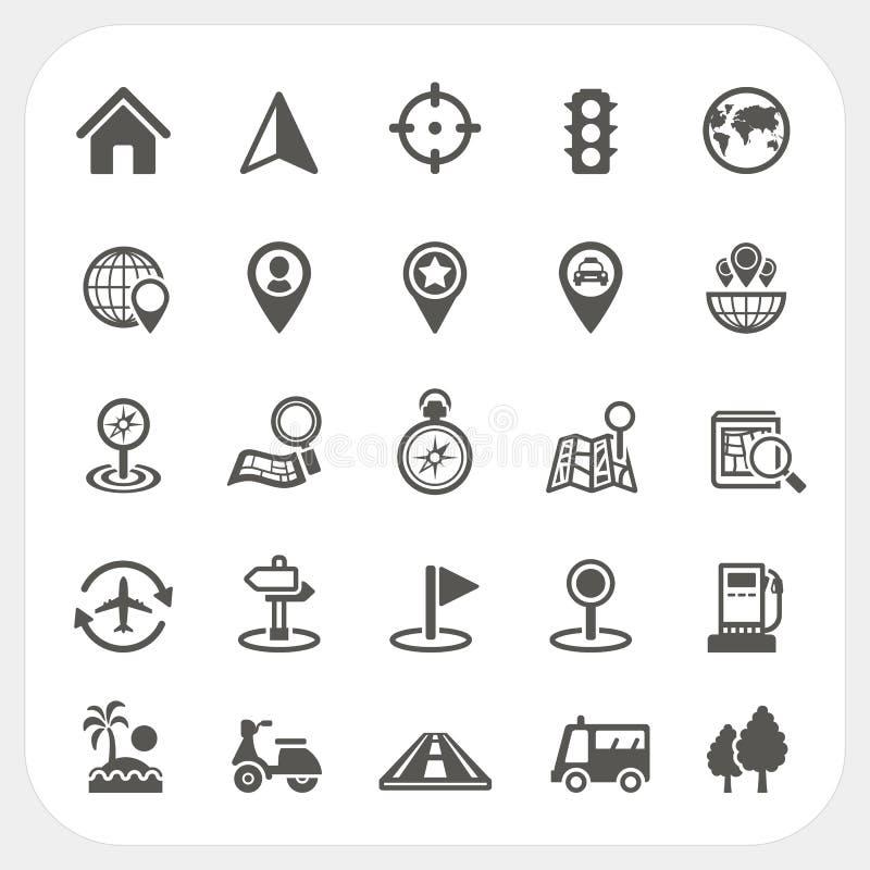 Mapy i lokaci ikony ustawiać ilustracja wektor