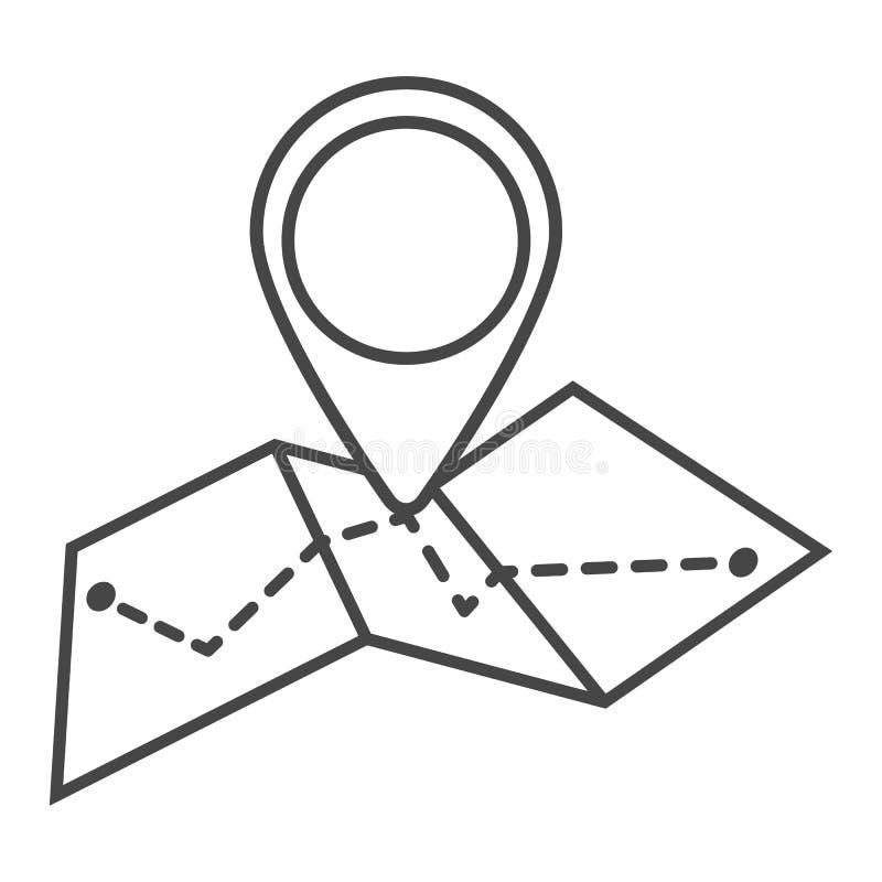 Mapy ikona w modnym mieszkanie stylu odizolowywającym na białym tle Symb royalty ilustracja