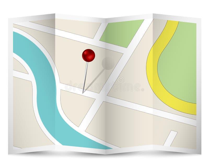 Mapy ikona z rewolucjonistki szpilką royalty ilustracja