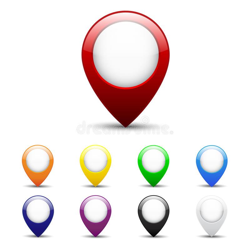 Mapy ikony set obrazy stock
