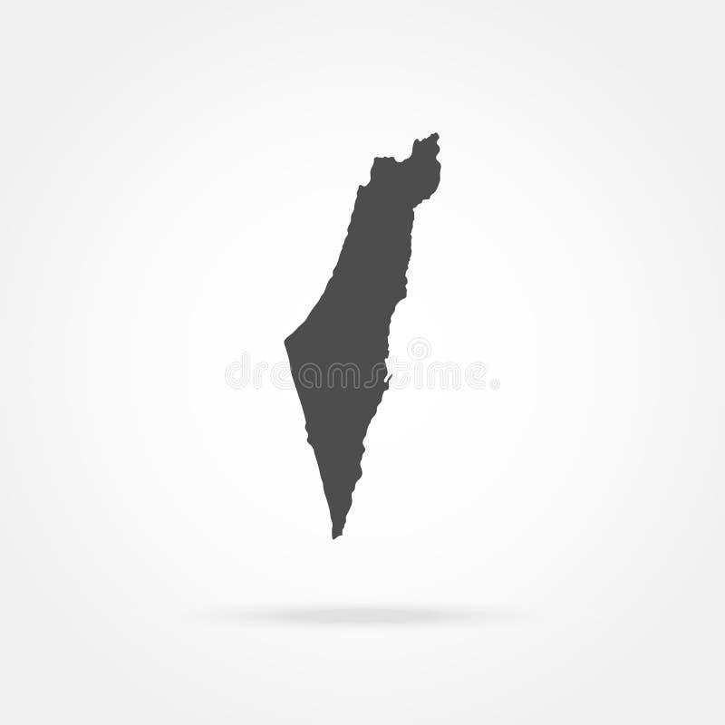 mapy, israel ilustracja wektor