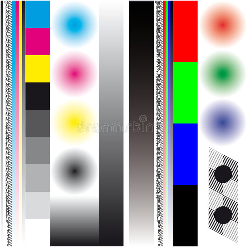 mapy kolor procenty obraz stock