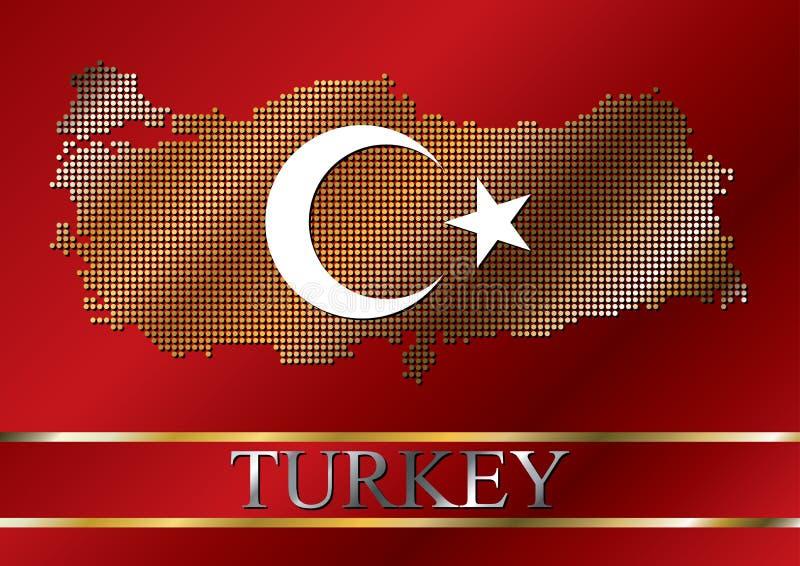 mapy kropkowany chorągwiany turkish ilustracji