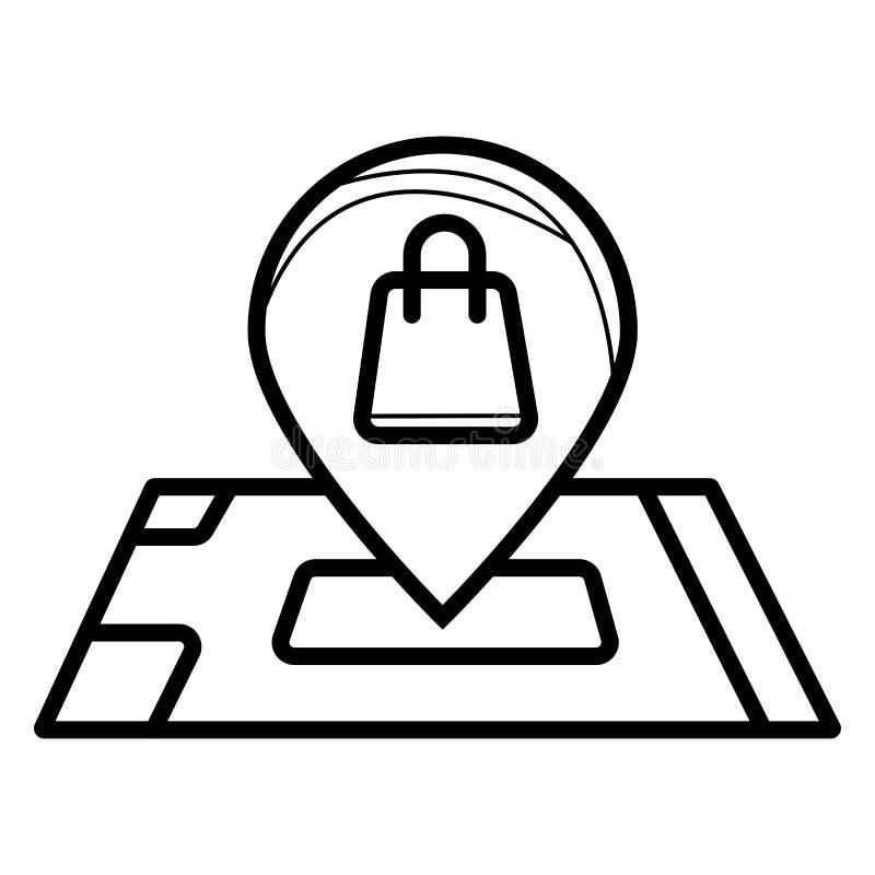 Mapy locator ikona ilustracja wektor