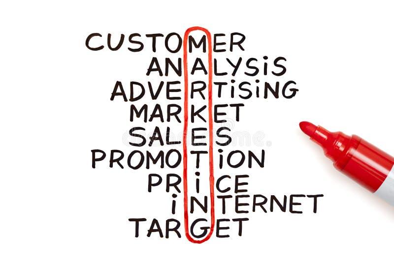 mapy markiera marketingowa czerwień obraz stock