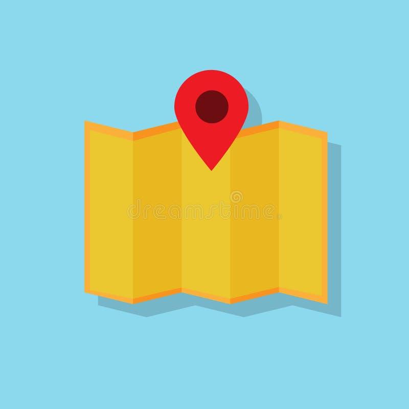 Mapy nawigaci ikony projekta płaski wektor ilustracja wektor