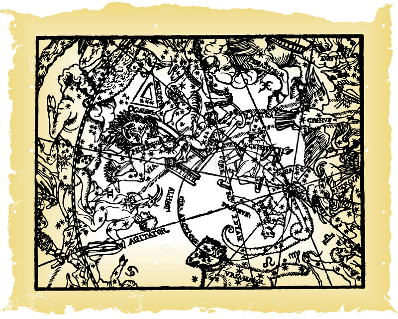 mapy niebo grać główna rolę rocznika ilustracji