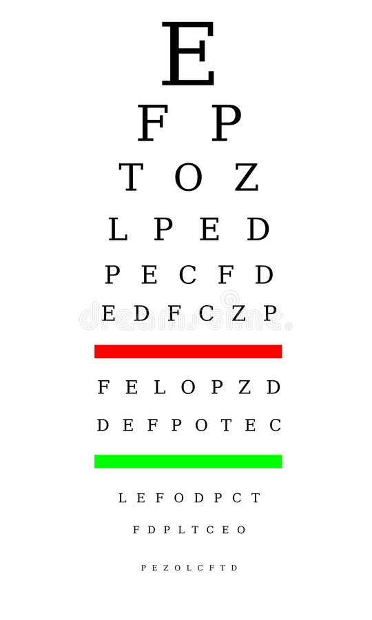 mapy optometrist ilustracji