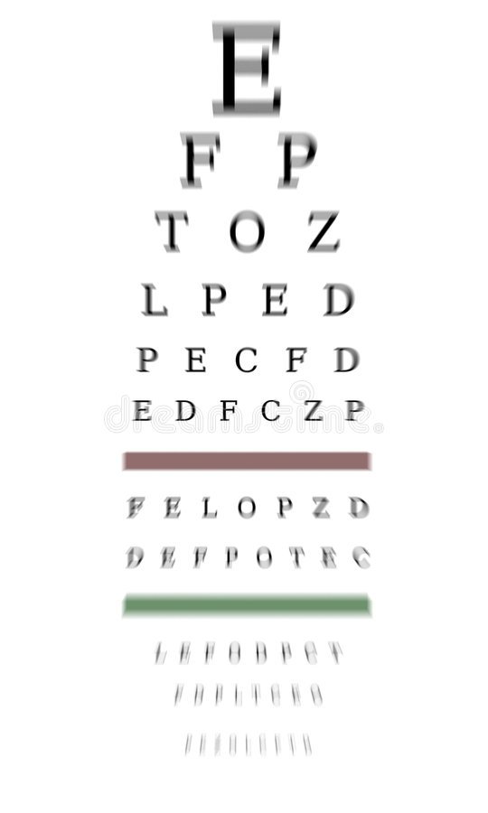 mapy optometrist obrazy stock