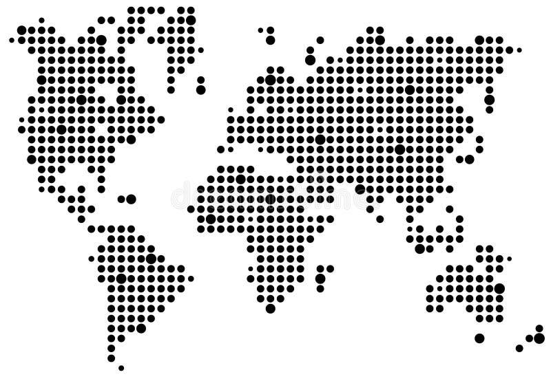 mapy piksla świat ilustracji