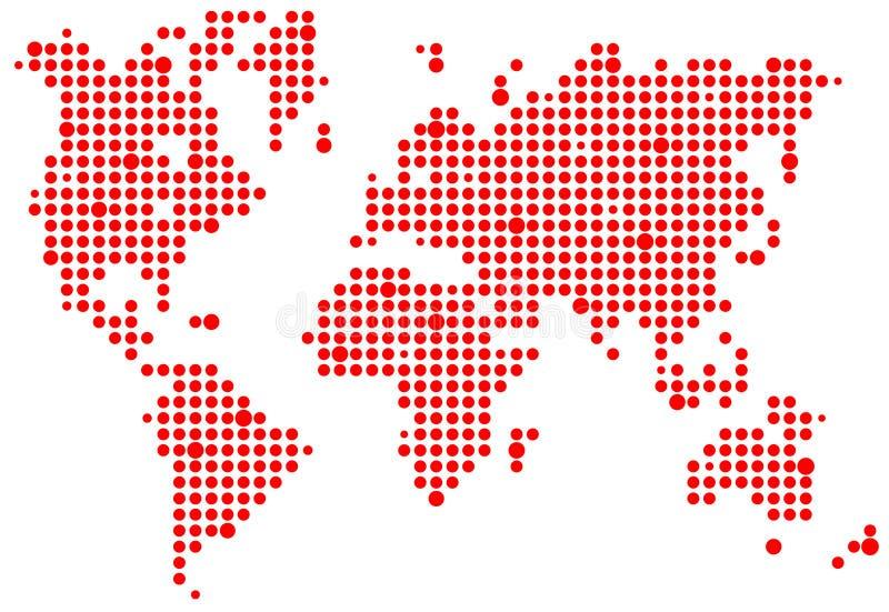 mapy piksla świat ilustracja wektor