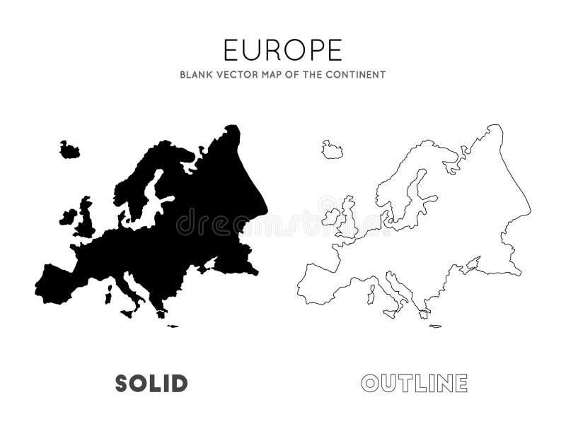 mapy politycznej Europy kontynentalna royalty ilustracja