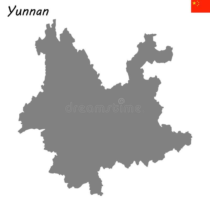 mapy prowincja Chiny ilustracja wektor