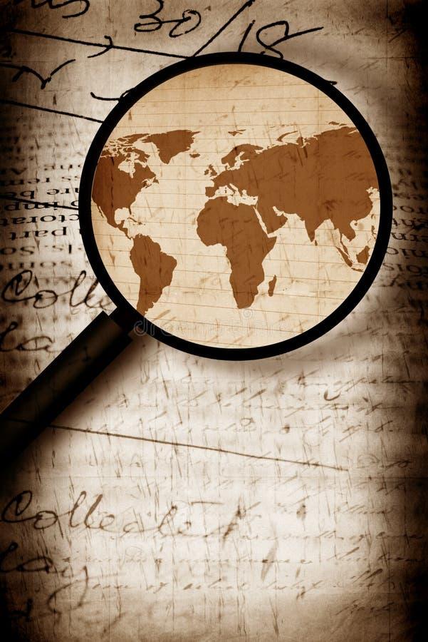 mapy rocznika świat ilustracja wektor
