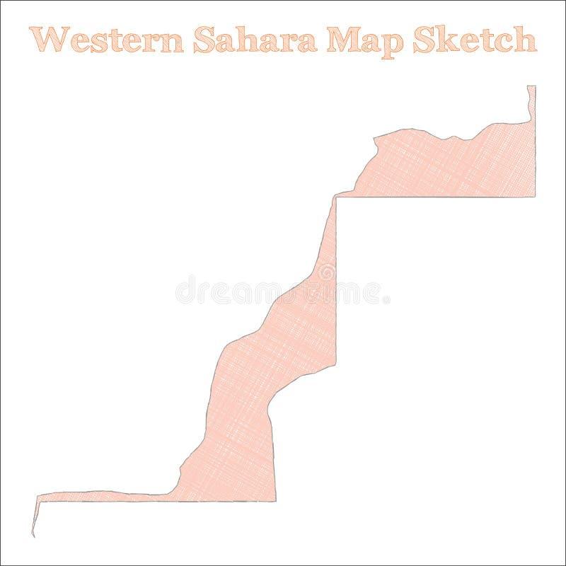 mapy Sahara western ilustracja wektor