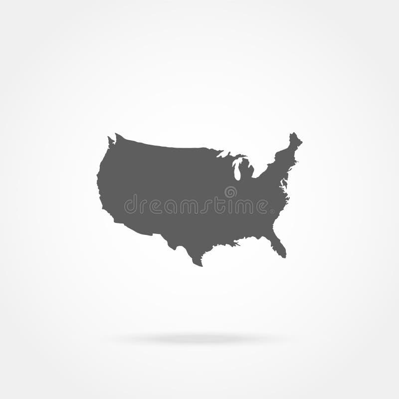 mapy stanów zjednoczonej ameryki royalty ilustracja