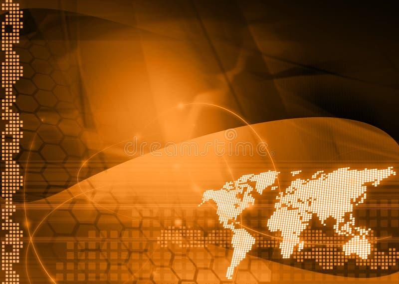 mapy styl świat technologii ilustracji