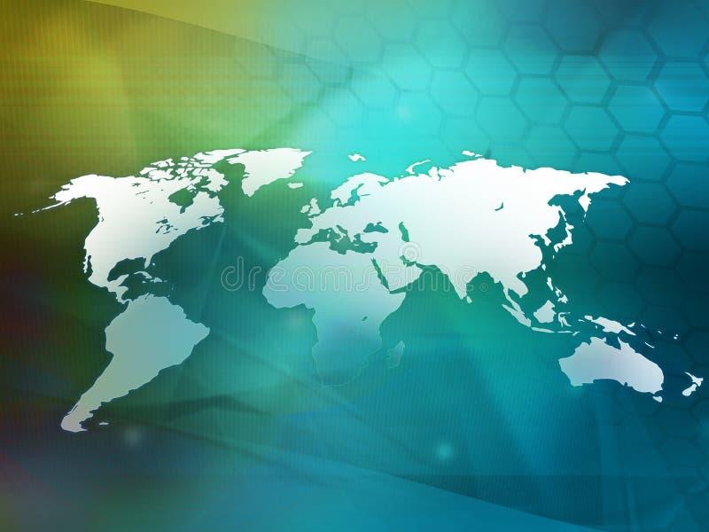 mapy styl świat technologii royalty ilustracja